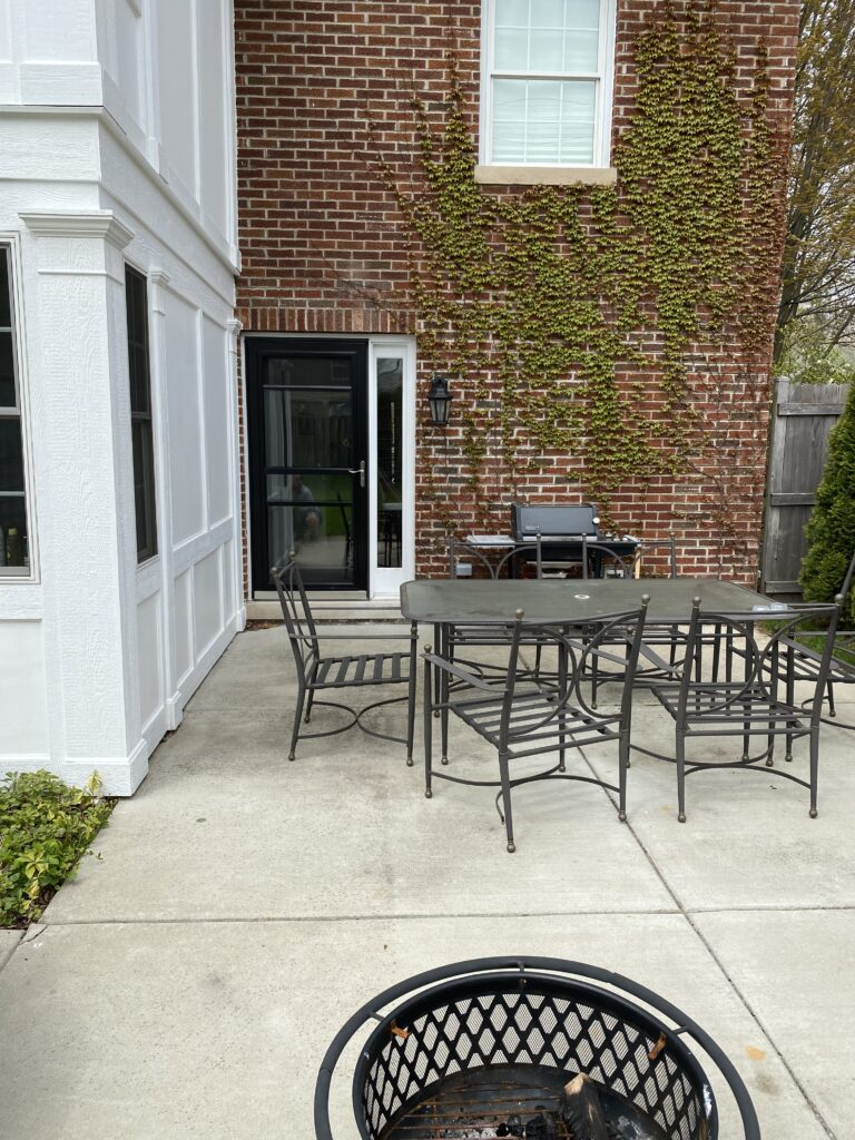 before and after patio outdoor space