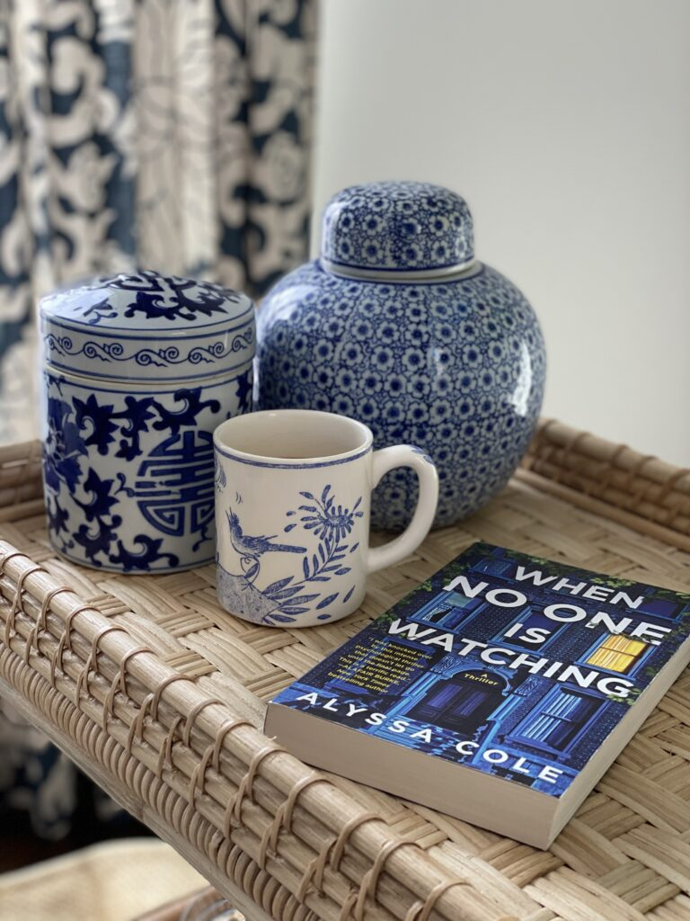 When No One is Watching by Alyssa Cole book blue and white