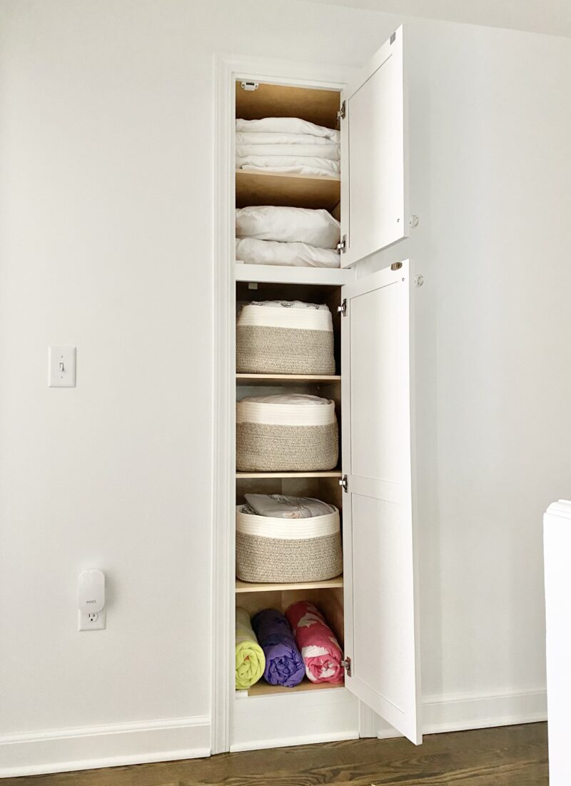 Linen Cabinet: Bins for the Win